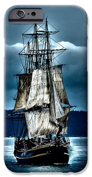 Pirate Ship iPhone Cases - Tall Ships - HMS Bounty iPhone Case by David Patterson