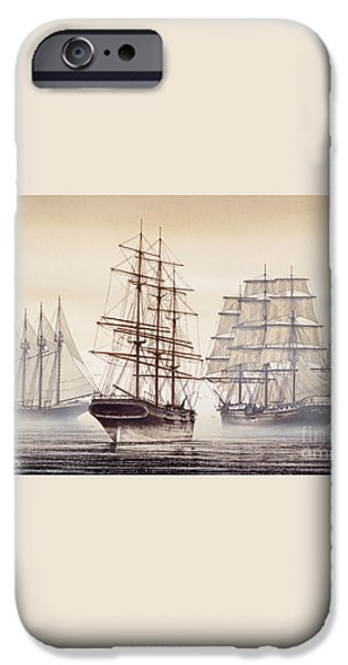 Tall Ships iPhone Case by James Williamson