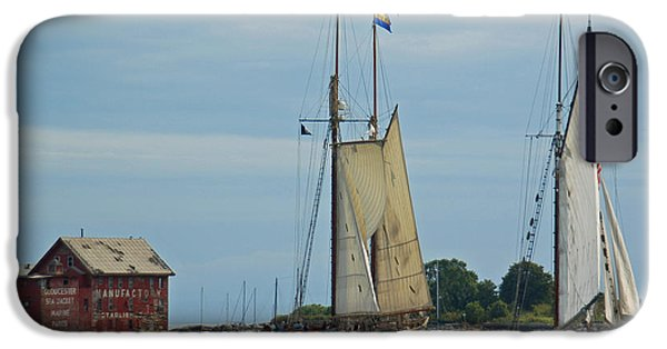 Tall Ship iPhone Cases - Tall Ships Sailing II iPhone Case by Suzanne Gaff