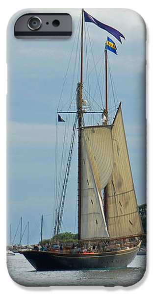 Tall Ships Sailing II iPhone Case by Suzanne Gaff