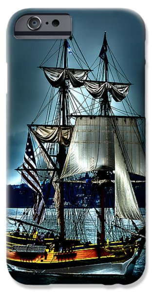 Tall Ship Digital Art iPhone Cases - Tall Ships - Tacoma Washington iPhone Case by David Patterson