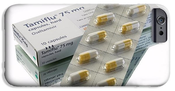 Cut-outs iPhone Cases - Tamiflu Capsules iPhone Case by Mark Sykes