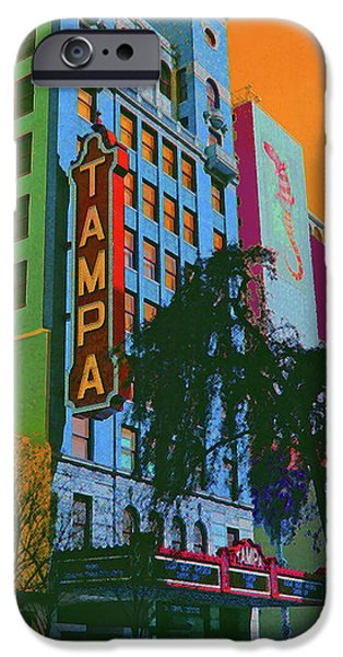 Historic Downtown Franklin iPhone Cases - Tampa Theatre iPhone Case by Jost Houk