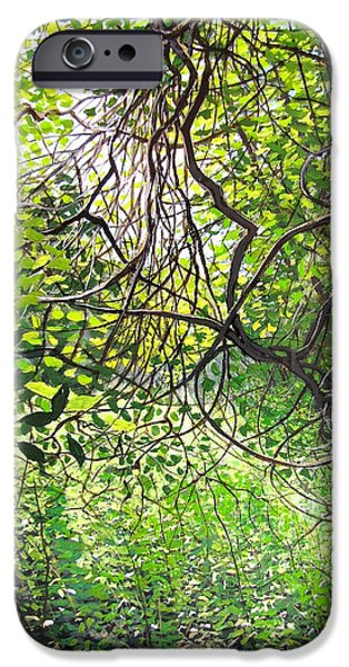 Abstractions iPhone Cases - Tangled Embrace iPhone Case by David Bottini