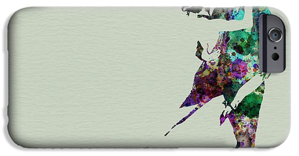 Relationship Paintings iPhone Cases - Tango iPhone Case by Naxart Studio