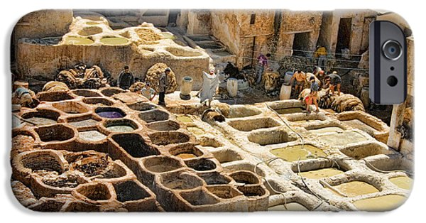 Fez iPhone Cases - Tanneries of Fes Morroco iPhone Case by David Smith