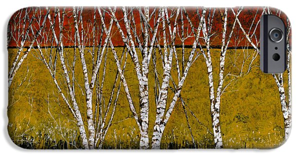 Birch Tree iPhone Cases - Tante Betulle iPhone Case by Guido Borelli