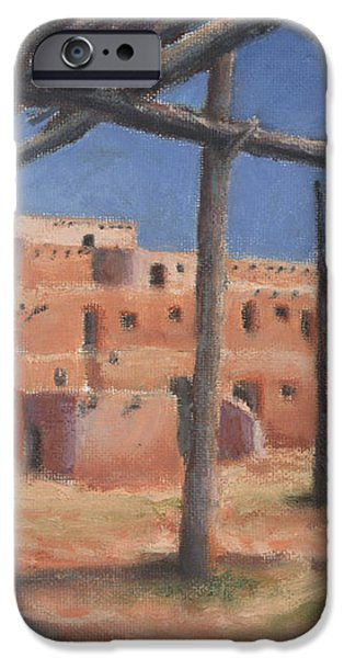 Taos Pueblo iPhone Case by Jerry McElroy