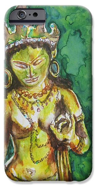 Recently Sold -  - Buddhism iPhone Cases - Tara Compassion iPhone Case by Christine Kfoury