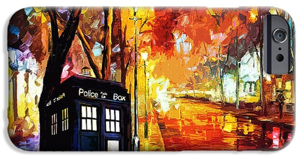 Recently Sold -  - Police iPhone Cases - Tardis Art Painting iPhone Case by Koko Priyanto
