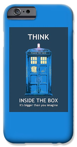 Business Photographs iPhone Cases - Tardis - Think Inside the Box iPhone Case by Richard Reeve