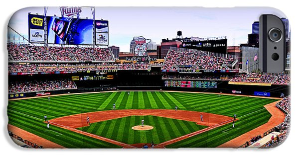 Baseball Stadium iPhone Cases - Target Field iPhone Case by Lyle  Huisken