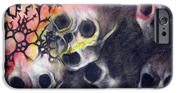 Macabre iPhone Cases - Tartarus iPhone Case by Emma Craig