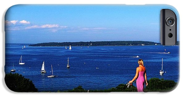 Sailboats iPhone Cases - Taste Of Portland Harbor iPhone Case by Mike Breau