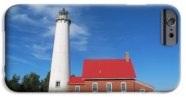 Historic Site iPhone Cases - Tawas Point Lighthouse 2 iPhone Case by Cindy Kellogg