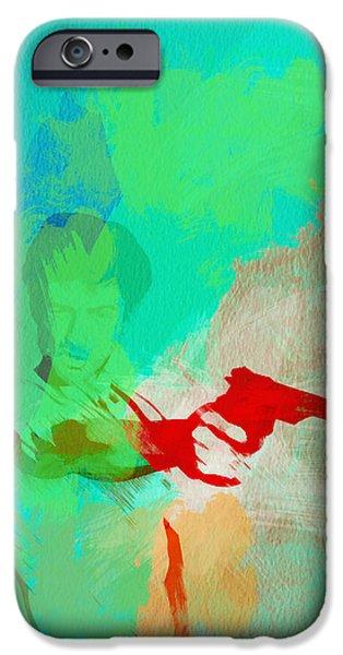 Robert De Niro Paintings iPhone Cases - Taxi Driver iPhone Case by Naxart Studio