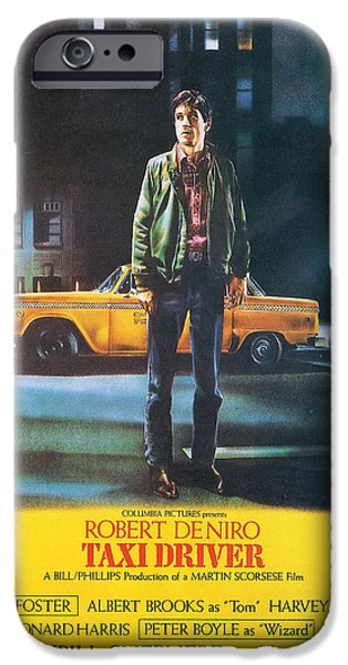 Taxi Driver - Robert De Niro iPhone Case by Nomad Art And  Design