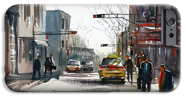 Wisconsin Paintings iPhone Cases - Taxi iPhone Case by Ryan Radke