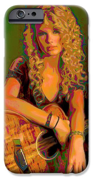 Taylor Swift iPhone Cases - Taylor Swift iPhone Case by  Fli Art