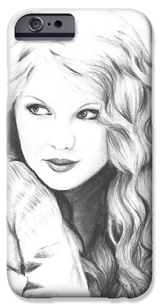 Taylor Swift iPhone Cases - Taylor Swift iPhone Case by Rosalinda Markle