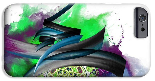 Abstract On Canvas Paintings iPhone Cases - TC Calligraphy 34 7  iPhone Case by Team CATF