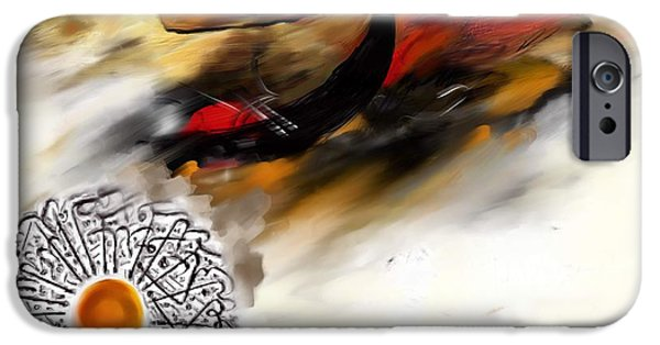 Abstract Art On Canvas Paintings iPhone Cases - TCM Calligraphy 10 5  iPhone Case by Team CATF