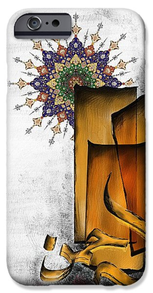 Abstract On Canvas Paintings iPhone Cases - TCM Calligraphy 5 4 iPhone Case by Team CATF