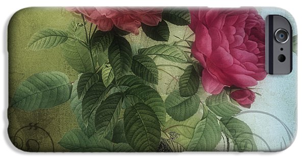 Rose iPhone Cases - Tea and Roses I iPhone Case by Mindy Sommers