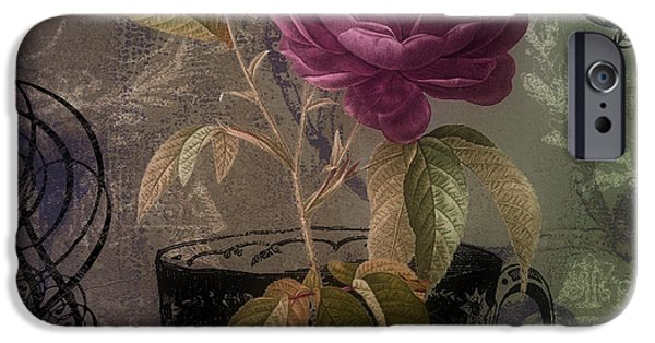 Rose iPhone Cases - Tea and Roses II iPhone Case by Mindy Sommers