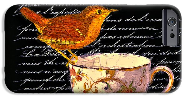 Tea Party Mixed Media iPhone Cases - Tea Cup iPhone Case by John K Woodruff