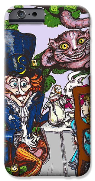 Best Sellers -  - Mad Hatter iPhone Cases - Tea Party iPhone Case by Rae Chichilnitsky