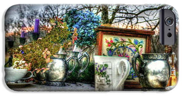 Alice In Wonderland iPhone Cases - Tea Table iPhone Case by Katrina  McKinnis