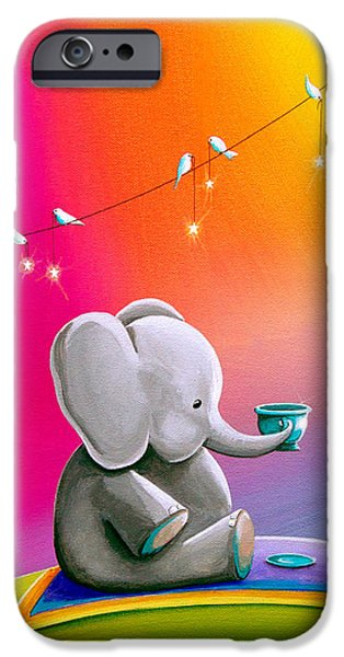 Elephant iPhone Cases - Tea Time iPhone Case by Cindy Thornton