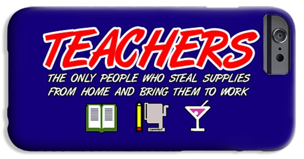 Work Tapestries - Textiles iPhone Cases - Teachers iPhone Case by Garrett Wesley