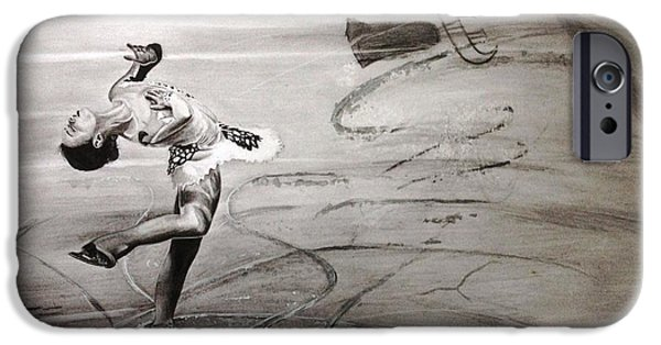 Nike Drawings iPhone Cases - Team FSC Triple Axle  iPhone Case by Gary Reising