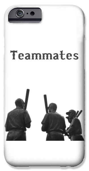 Red Sox Digital iPhone Cases - Teammates Poster - Boston Red Sox iPhone Case by Joann Vitali