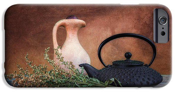 Crocks iPhone Cases - Teapot with Pitcher Still Life iPhone Case by Tom Mc Nemar