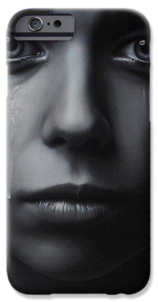 Torn iPhone Cases - Tears iPhone Case by Brita Seifert