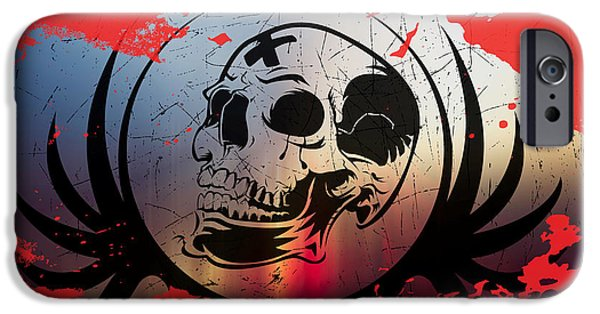 Torn iPhone Cases - Tears Of A Clown iPhone Case by Michael Damiani