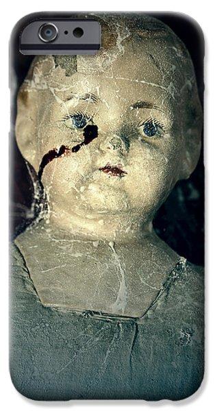 tears of blood iPhone Case by Joana Kruse