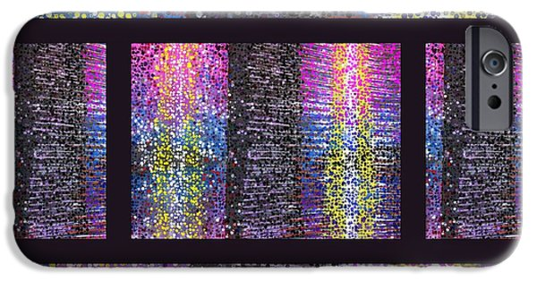 Abstract Digital Tapestries - Textiles iPhone Cases - Technicolor Dreams 2 iPhone Case by Suzi Freeman and Charles Schuster