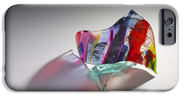 Shape Glass iPhone Cases - Technicolor iPhone Case by Mykel Davis