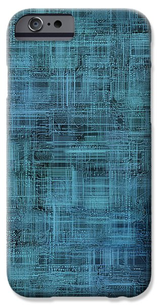 technology abstract background iPhone Case by Michal Boubin