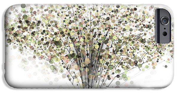 Abstract Digital Art iPhone Cases - technology Abstract iPhone Case by Setsiri Silapasuwanchai