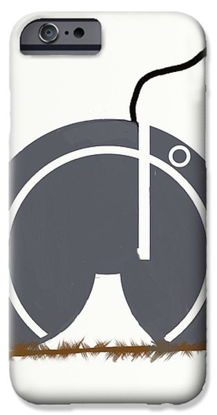 Technology Drawings iPhone Cases - Technology on a String iPhone Case by M Kaye Hash