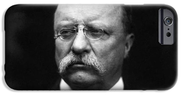 President iPhone Cases - Teddy Roosevelt iPhone Case by War Is Hell Store