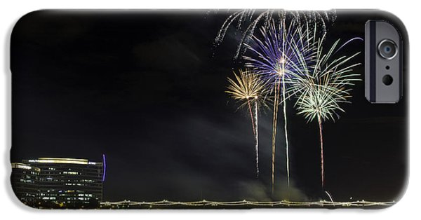 Fourth Of July iPhone Cases - Tempe Fireworks 2015-10 iPhone Case by Paul Riedinger