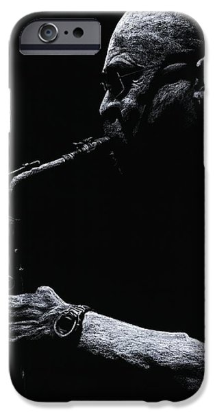 Celebrities Pastels iPhone Cases - Temperate Sax iPhone Case by Richard Young