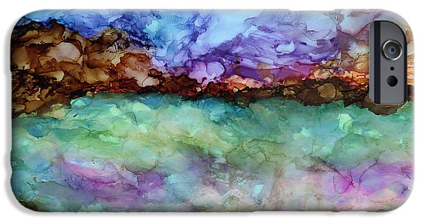 Red Rock iPhone Cases - Tempesteous Sea iPhone Case by Eunice Warfel