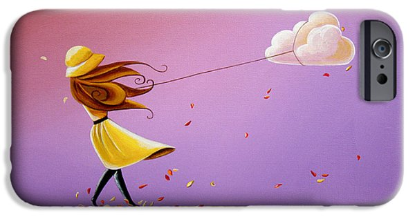 Whimsy Paintings iPhone Cases - Tempestuous iPhone Case by Cindy Thornton